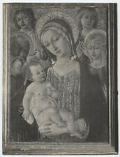 PHOTOGRAPH PAINTING MADONNA AND CHILD, ITALY. SILVER PRINT.