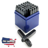 36Pc Set Steel Letter And Number Stamp Punch Tool Kit 1/4 Inch 6mm, A-Z,0-9 USA