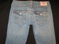 True Religion Jeans Women Billy Slim Straight Leg Flap Pocs Sz 26