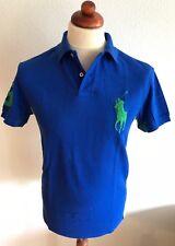 Ralph Lauren | Poloshirt | M | Custom Fit | Blau gelb | 100% Baumwolle | USA Neu