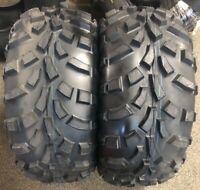 TWO NEW 25x11-12 KENDA K590 ATV /UTV TIRES (pair) POLARIS ETC. replaces 25x10-12
