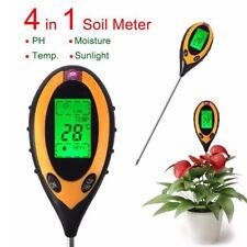 4in1 LCD Temperature Sunlight Moisture PH Garden Plant Soil Tester Senor Meter