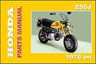HONDA Parts Manual Z50J Z50 Z50A 1976 1977 on Replacement Spares Catalog List