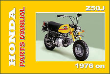HONDA Parts Manual Z50J Z50 Z50A 1976 1977 on Replacement Spares Catalog List