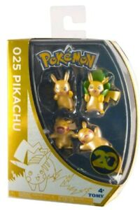 Pokemon 20th Anniversary Limited Edition Pikachu 4 Pack Assortment - Official