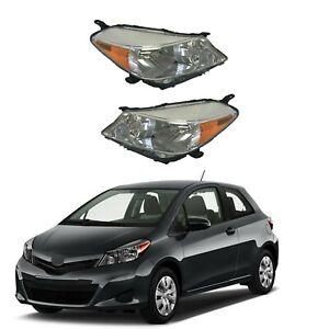 For 2012 2013 2014 Toyota Yaris Hatchback Headlight Assembly Chrome Corner Lamp