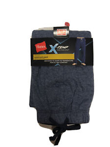 Hanes PJ Pants Sleep Lounge Knit Blue Mens Small