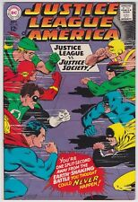 Justice League Of America #56 VF+ 8.5 Justice League VS Justice Society 1967!