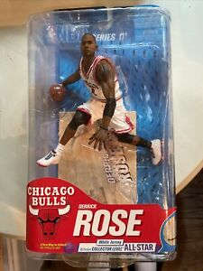 DERRICK ROSE McFarlane Series 17 Chicago Bulls NBA #60 out of 100 White Jersey.