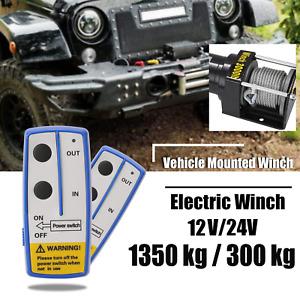 Argano Verricello Elettrico Wireless 12V/24V Montacarichi Impermeabile per Auto