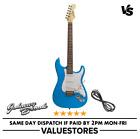 Johnny Brook Strat Style Electric Starter Guitar 22 Fret Blue New for sale