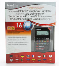 Franklin Explorer 16 Language Phrasebook Translator Electronic Est-4016 Nib A908