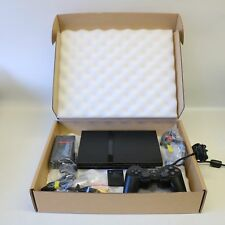 SLIMLINE SLIM ANTHRACITE NOIR SONY PLAYSTATION 2 PS2 Console-Near Comme neuf