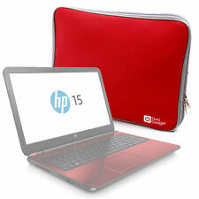 "Stylish Red Neoprene Protective Laptop Case / Sleeve for HP 15.6"" Pentium"