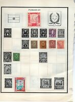 Paraguay (21) stamps vf mint and used pre-1945 2 pages from an old scott album