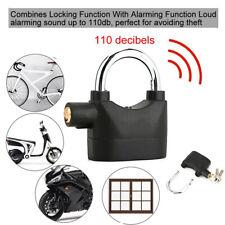 Black Waterproof Security Padlock Siren Alarm Lock For Door Window Anti-theft