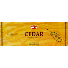 CEDAR- HEM INCENSE STICK HEXA  PACK OF 12 x 20 STICKS = 240 STICKS