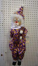 "Unbranded Clown Marionette String Puppet Doll on Swing Porcelain Face 28"""