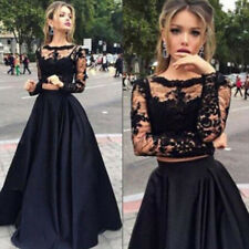 Women Formal Prom Lace Long Skirt Dress Evening Party Cocktail Long Maxi Dresses