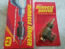 """NEW SEALED Vintage Action's Miracle Driver """"The Power Driven Screwdriver"""" Drill"""