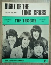 vintage 1967 Garage/Psych-Rock sheet music THE TROGGS - Night Of The Long Grass