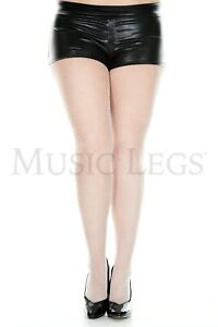 """Plus Size COLOR FISHNET PANTYHOSE SEAMLESS Waist Stretches to 50"""" Queen"""