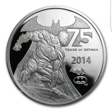 Niue 2014 $5 DC Comics 75 Years Ann.  of Batman 2 Oz Silver Proof Coin Adam West
