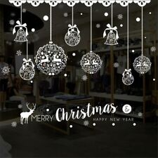 Christmas Wall Sticker Home Decor Window Decoration Hanging Jingle Bell