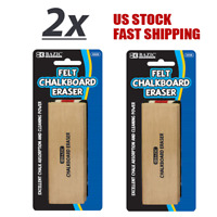 2 Pack - Felt Chalkboard Eraser Excellent Chalk Absorption w/Durable Wood Handle