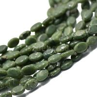 """Handmade 10x14mm Natural African Jade Shell Flat Oval Loose Beads 15"""" Strand"""