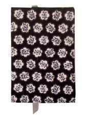 New Fabric Standard Paperback Book Cover  Black White Gray & Gold Metallic Print