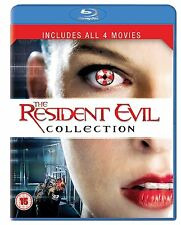 Resident Evil 1-4 Part 1 2 3 4 Blu Ray Collection All 4 Movie Films New UK Rel
