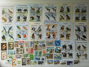 100 Different Ivory Coast Stamp Collection