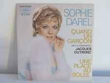 SOPHIE DAREL / JACQUES DUTRONC Quand un garcon 45 V 4075