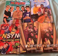 3 *Nsync Books and 2 Photocard Albums
