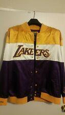 Men Lakers XL Vintage NBA Hardwood Classic Satin Material Jacket Mitchell & Ness