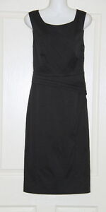 Womens size 6 black fitted dress made by OJAY - panel detail
