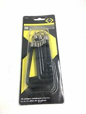 CK T4416 Hex Allen Key Metric 1.5 - 10mm Set Of 10