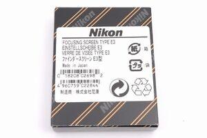 Brand new Nikon Focusing Screen Type E3 for FM3A FE2 FM2 FM2N FM2/T from Japan