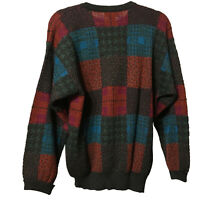 VTG Mens Tricots St. Raphael Pure Wool Black Patch Sweater Size S Rolled Cuff
