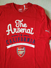 VERY RARE Arsenal FC in California Soccer Preseason Tour RED Tee, Wilshere MLS