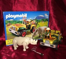 Playmobil 5904 Safari Series, Car Rhino & Ranger Action Figure