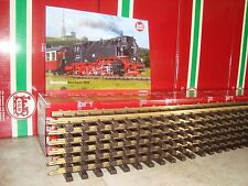 LGB 10610 BRASS 4 FT STRAIGHT TRACK BOX OF 6 PCS NEW + FREE 2015 FLYER INCLUDED!