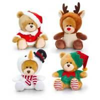 KEEL TOYS PIPP THE BEAR CHRISTMAS SNOWMAN, SANTA, REINDEER, ELF  14CM BNWT