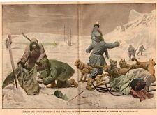 POLE NORD MISSION RUSSE KLOTACHAK DECOUVRE LETTRE BARON TOLL IMAGE 1905 PRINT