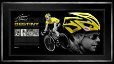 CADEL EVANS TOUR DE FRANCE SIGNED FRAMED LIMITED DESTINY BELL HELMET WIGGINS