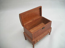 Lincoln Dome Chest  walnut T6745  miniature dollhouse furniture wood 1/12 scale