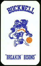 1982-83 BUCKNELL BISON COLONIAL PRINT MENS BASKETBALL POCKET SCHEDULE