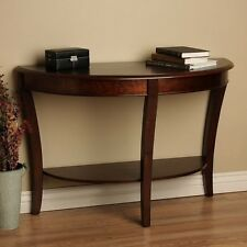 Console Tables for Entryway Half Round Sofa Hall Modern Walnut Stand Library