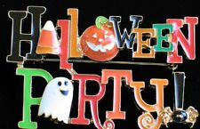 JACK O LANTERN GHOST SPIDER CANDY CORN PUMPKIN HAPPY HALLOWEEN PARTY PIN BROOCH